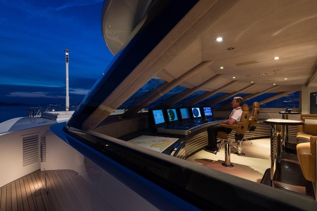 Interieur van een Jachtboot